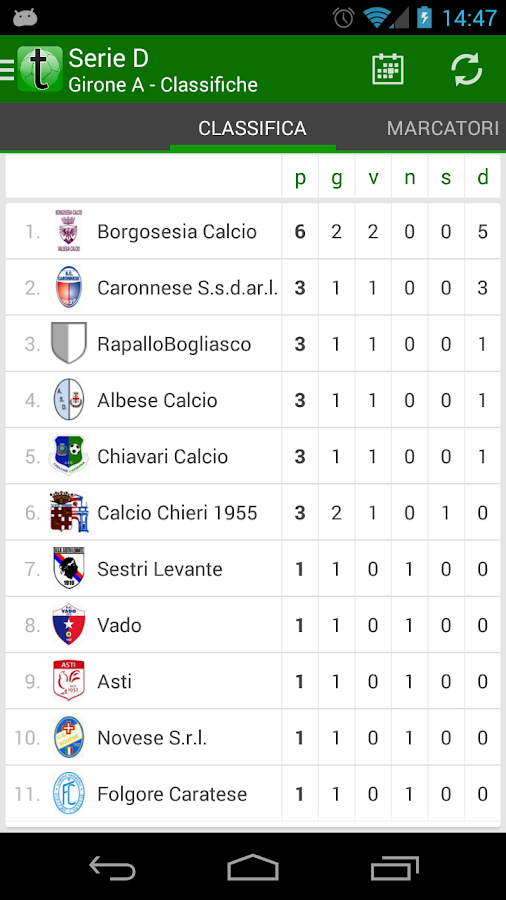 Tuttocampo - screenshot