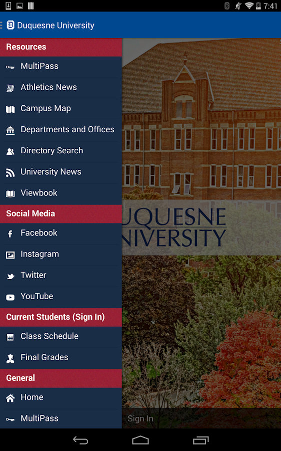 Duquesne U- screenshot