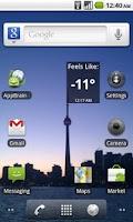 Screenshot of Wind Chill Widget
