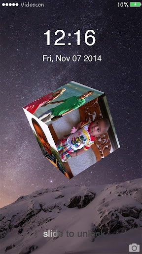 My Photo Cube Lock Screen