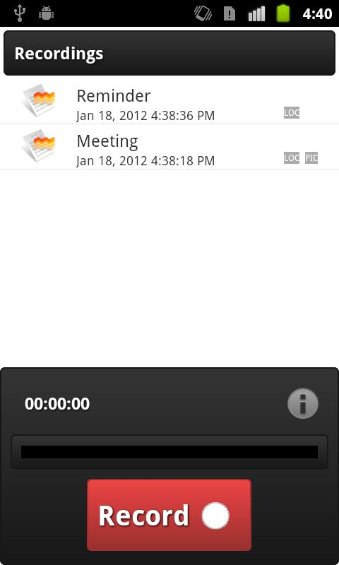 Voice Record - screenshot