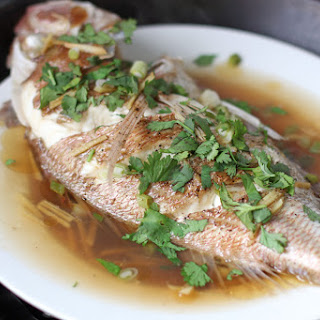 Malaysian Style Steamed Fish.
