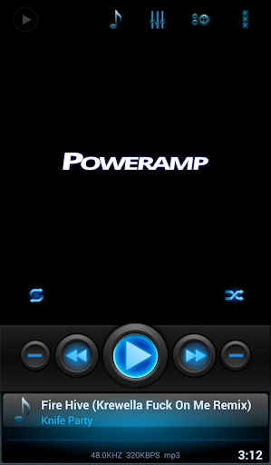 Mad Jelly Blue Poweramp Skin  screenshots 1