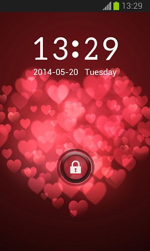 Lock Screen Love Red