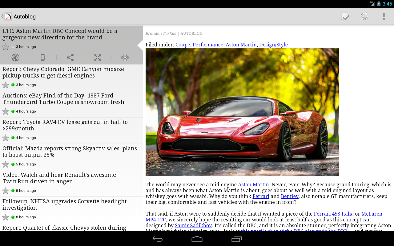 FeedR News Reader - screenshot