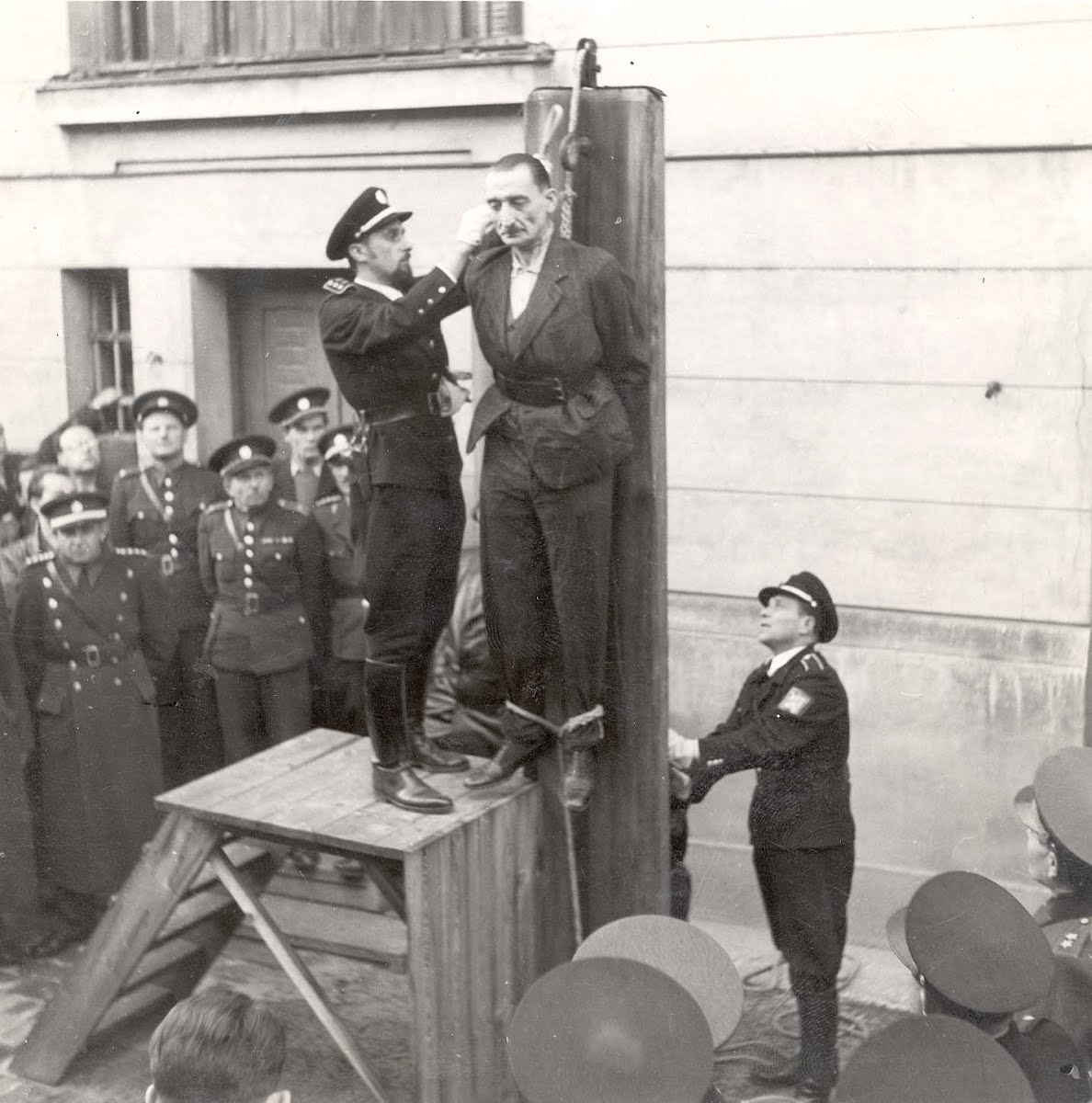 Kosice, Czechoslovakia, Joeckl at his execution, 25/10 ...
