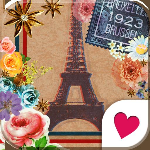 可愛換裝桌布★Vintage Paris 個人化 App LOGO-硬是要APP