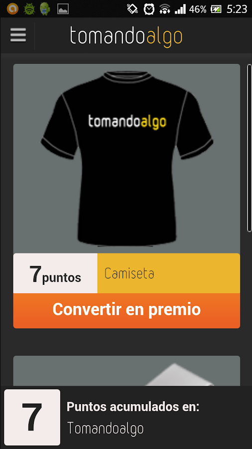 Tomandoalgo - screenshot