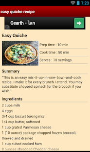Easy Quiche Recipe - screenshot thumbnail