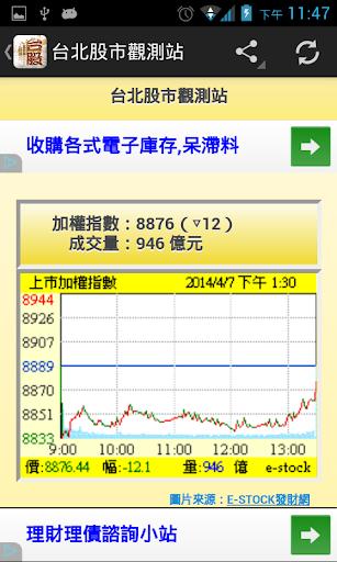 台北股市觀測站 v3 (非股市即時看盤軟體)