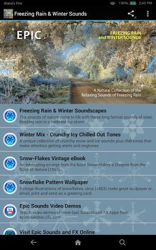 Freezing Rain Winter Sounds
