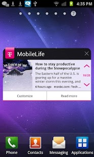 MobileLife Widget for Phones - screenshot thumbnail