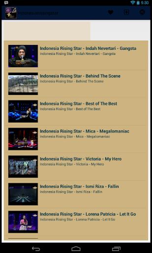 Indonesia Rising Star Video