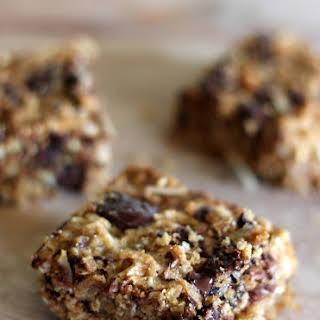 Whole Wheat Coconut Oatmeal Dark Chocolate Chunk Bars.