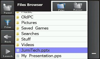 Screenshot of JumiPresenter