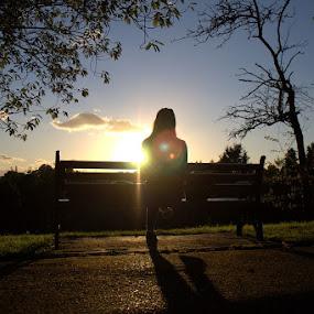 Bristol Sunset by Carl Jones - Novices Only Landscapes