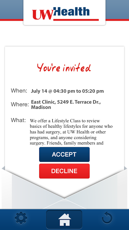 UW Health Bariatrics- screenshot