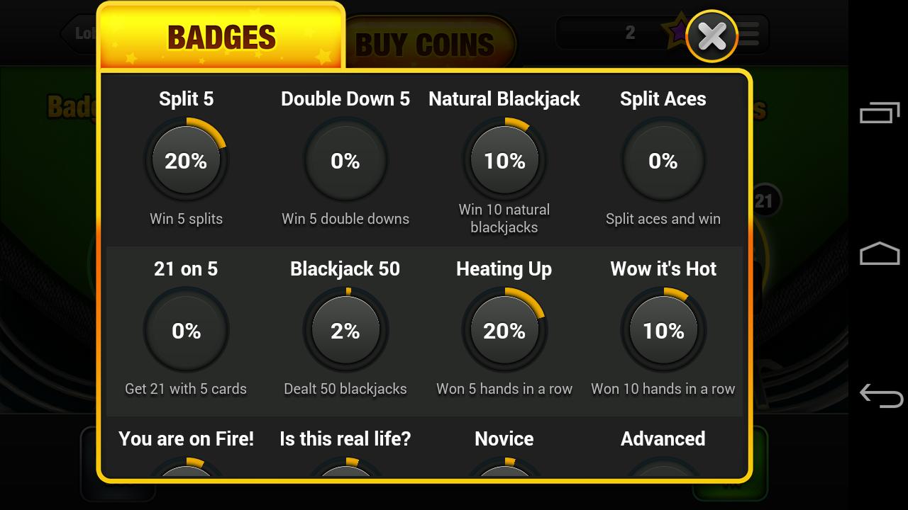Blackjack game free no download