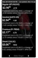 Screenshot of Fuel Outlook Mobile