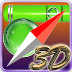 Compass and leveler icon