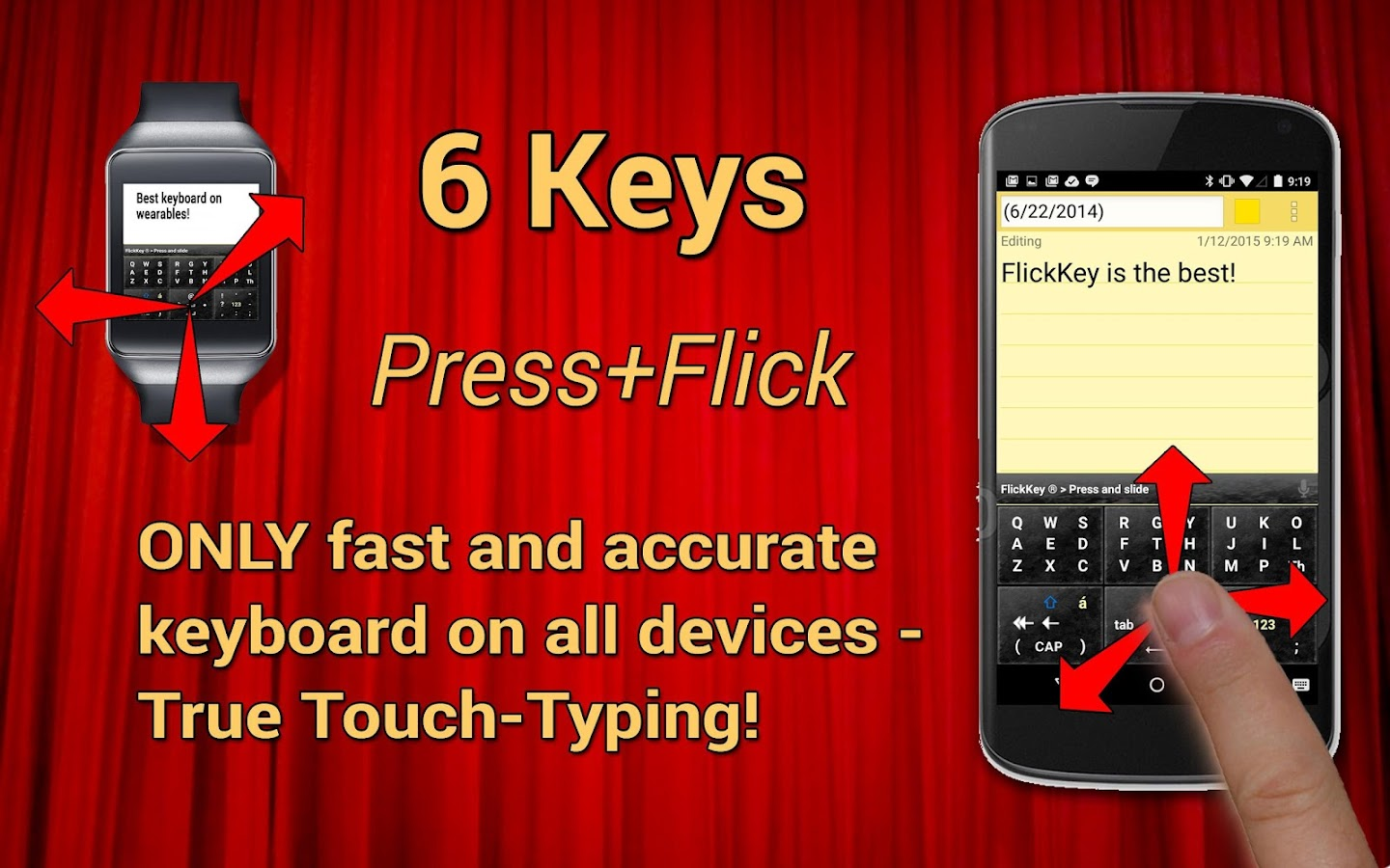 FlickKey Keyboard for Android- screenshot