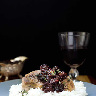 Gluten Free Pork Chops with Cherry Balsamic Sauce