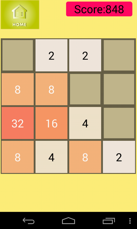 2048 : The Number Puzzle- screenshot