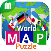 World Map Puzzle for Kids