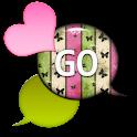 GO SMS - Dazzling Hearts 7 icon