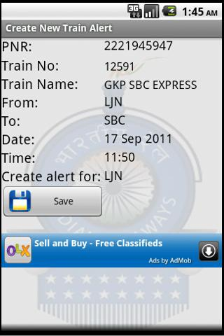 Indian Railway Train Alarm- screenshot