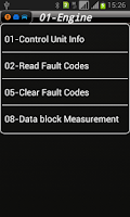 Screenshot of iOBD2-VW