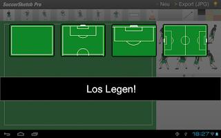 Screenshot of SoccerSketch