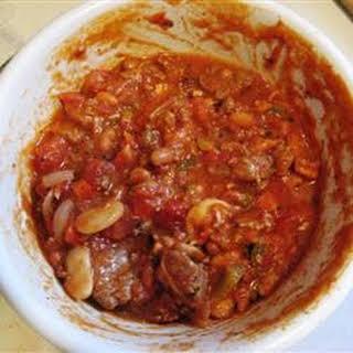 Five Meat Habanero Chili.