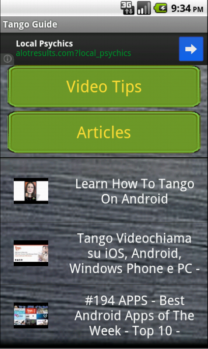 Tango Calls Guide - screenshot