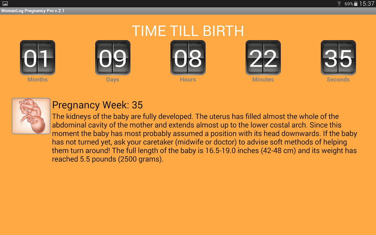 WomanLog Pregnancy Pro- screenshot