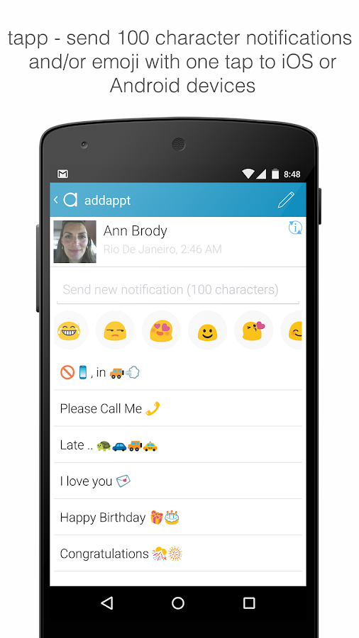 addappt: up-to-date contacts - screenshot