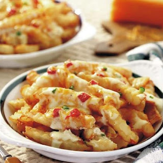 Raja Makan Recipe : Fried Potato with Cheese Sauce Smoke Meat