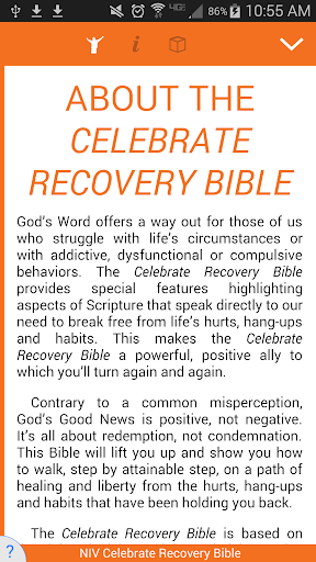 Celebrate Recovery Bible screenshot