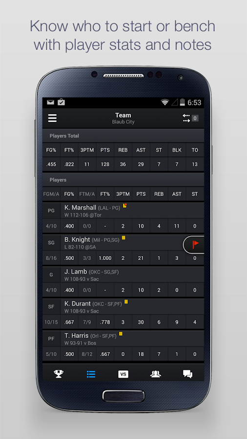 Yahoo Fantasy Sports - screenshot