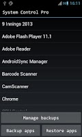 Screenshot of System Control Free