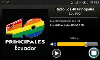 Screenshot of Los 40 Principales Ecuador