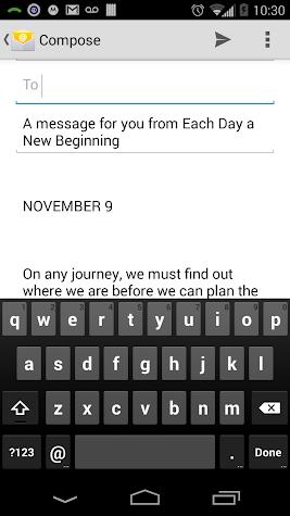 Each Day a New Beginning Screenshot