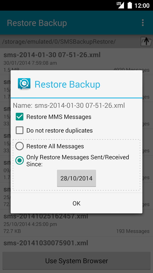 SMS Backup & Restore Pro- screenshot