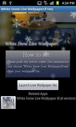 White Snow Live Wallpaper_free 1.9 Windows u7528 1