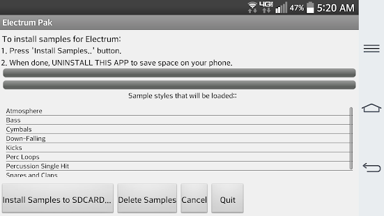 Electrum Pak Drumhits Screenshot 1
