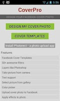Screenshot of CoverPro design cover photo