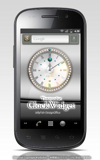 12月の誕生石トルコ石の時計ウィジェット