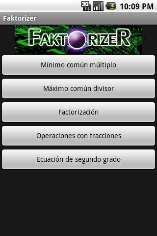 Faktorizer- screenshot