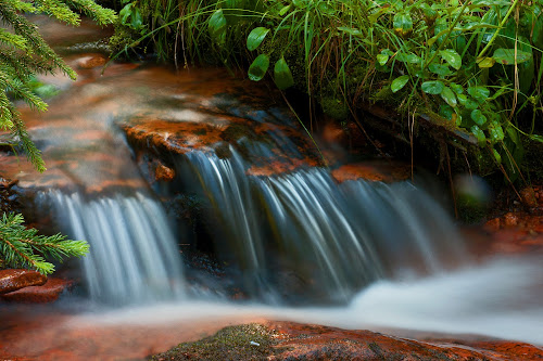 Peaceful Flow by Todd Yoder - Landscapes Waterscapes ( landscape photography, forest, rocks, slow speed, river )