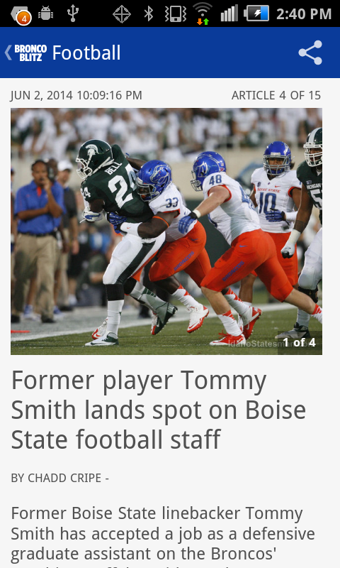 Bronco Blitz - BSU sports news- screenshot